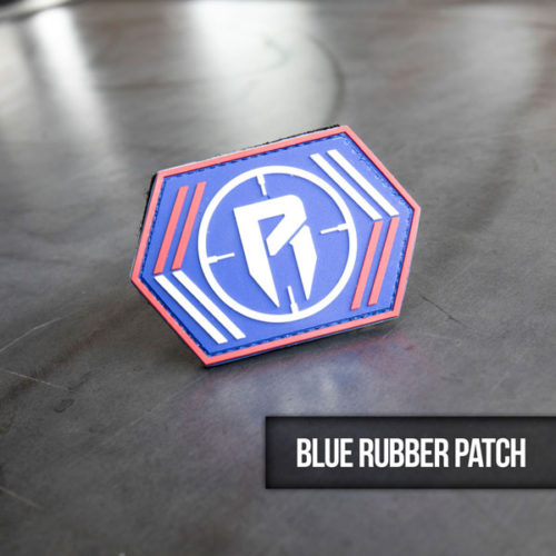 blue rubber hunting patch