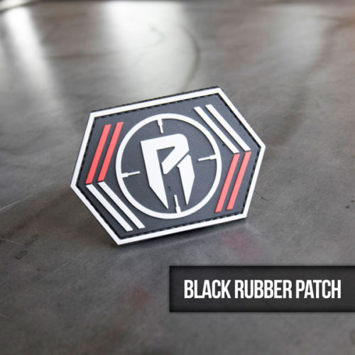 black rubber hunting patch