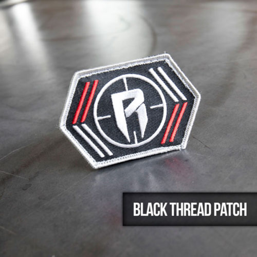 black thread hunting patch